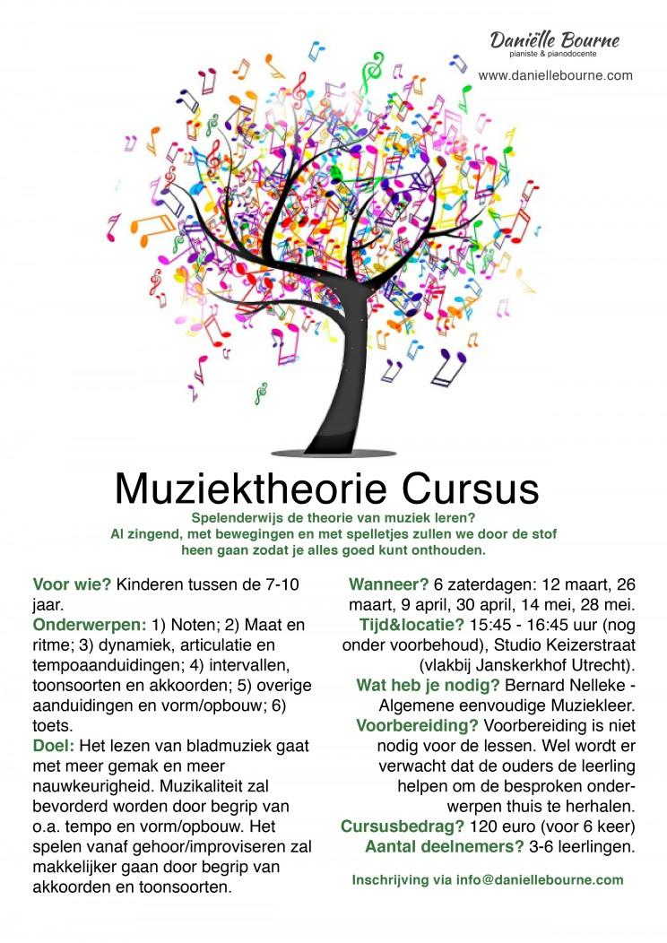 flyer muziektheorie cursus - e